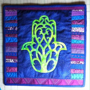 Tree of life hamsa, with binding, no beads