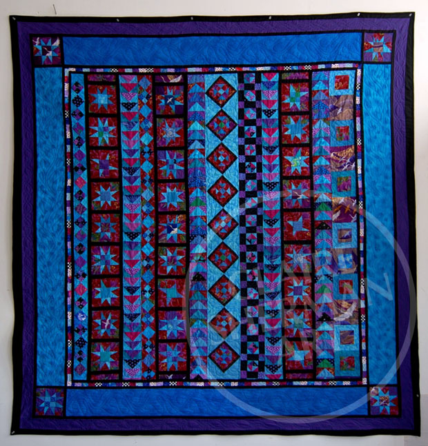 Very Variable Stars 2010 queen sized bed quilt