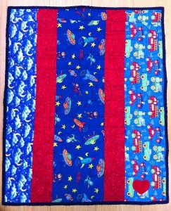 Colton's quilt, back