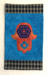 Orange and Blue Hamsa
