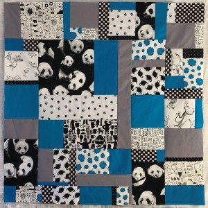 Stephani blue grey baby quilt